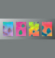 abstract creative cover concepts collection vector image vector image