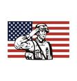 American soldier serviceman saluting vector image vector image