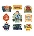 back to school and education icons vector image vector image
