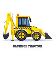 backhoe tractor excavator or bulldozer loader vector image