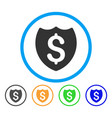 bank insurance shield rounded icon vector image vector image