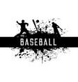 baseball grunge label or emblem isolated vector image vector image