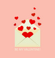 be my valentine greeting card love letter vector image vector image
