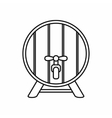 Beer barrel icon outline style vector image vector image