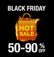black friday background vector image vector image