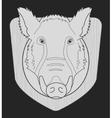 Boar head chalk vector image vector image