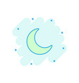 cartoon nighttime moon and stars icon in comic vector image