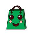 christmas kawaii shop bag character comic vector image