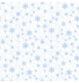christmas snowflakes net seamless pattern vector image vector image