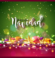 christmas with spanish feliz navidad vector image vector image