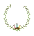 colorful decorative half crown branch with vector image vector image