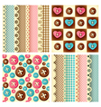 craft seamless pattern vector image