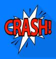 crash icon pop art style vector image vector image
