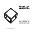 cube icon 3d frames for your presentation vector image