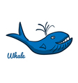Cute cartoon whale vector image vector image