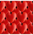 Design seamless red volumetric hearts pattern vector image