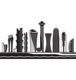 doha skyline by day vector image vector image