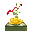 economic growth design vector image