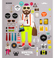 Editable Hipster Dude vector image vector image