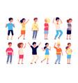 emotional kids children faces expression emotion vector image vector image