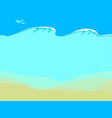 empty sand sea bottom vector image vector image