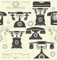 endless pattern with vintage phones vector image vector image
