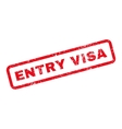 Entry Visa Text Rubber Stamp vector image vector image