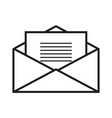 envelope with letter icon vector image vector image