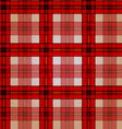 Festive red checkered seamless pattern vector image vector image