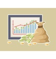 Financial statistics with graph vector image vector image