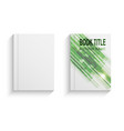 green abstract book cover design template vector image vector image