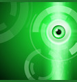 green background with eye vector image vector image