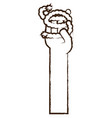 hand with a piece of rope vector image