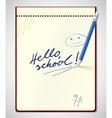 Hello school vector image