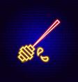 honey tool neon sign vector image vector image