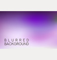 horizontal wide purple blurred background vector image vector image