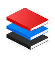isometric book icon in flat style vector image