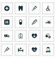 medicine icons set collection of first-aid heal vector image vector image