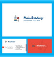 network setting logo design with tagline front vector image vector image
