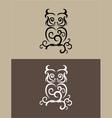 Owl decor vector image vector image