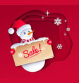 paper cut style winter sale vector image vector image