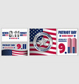 patriot day september 11 banner set flat style vector image vector image