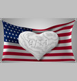 patriot day the 11th of september marble heart on vector image