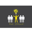 people icons think different vector image