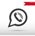 Phone icon in speech bubble vector image vector image