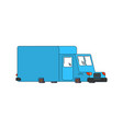post car cartoon style mail delivery car vector image vector image