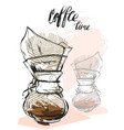 quote coffee hand drawn typography poster for vector image vector image