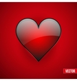 Red realistic heart Valentines day card vector image vector image
