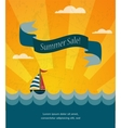 retro summer sale poster infographic vector image