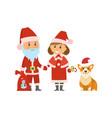 santa claus christmas holidays winter character vector image vector image